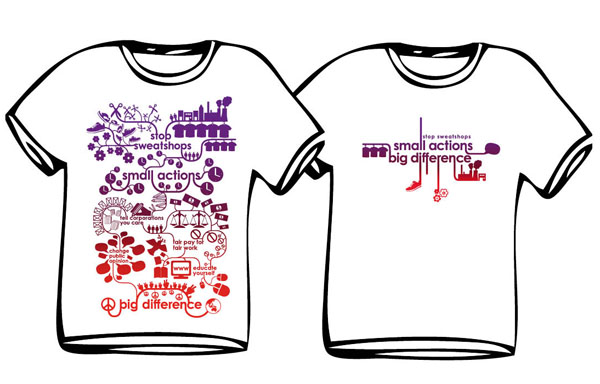 T-shirt design produced by UTS Community Project students
